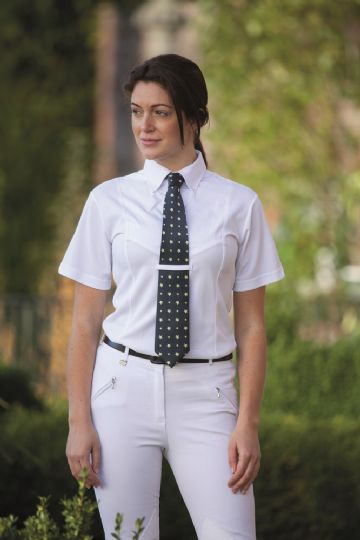 SHIRES WHITE TIE COLLAR  SHOW SHIRT